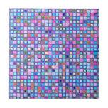 """El mosaico rosado y azul rústico """"arcilla"""" teja el"""