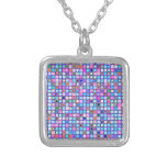 """El mosaico rosado y azul rústico """"arcilla"""" teja el joyerias personalizadas"""