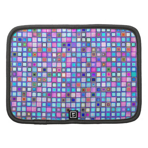 """El mosaico rosado y azul rústico """"arcilla"""" teja el organizadores"""