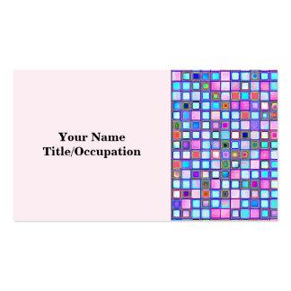 """El mosaico rosado y azul rústico """"arcilla"""" teja el tarjeta de visita"""