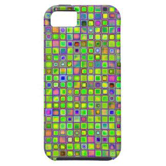 """El mosaico rústico """"arcilla"""" de la verde lima teja iPhone 5 Case-Mate funda"""