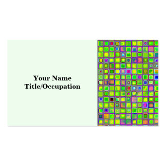 """El mosaico rústico """"arcilla"""" de la verde lima teja plantillas de tarjetas de visita"""