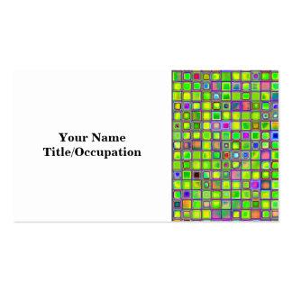 """El mosaico rústico """"arcilla"""" de la verde lima teja tarjetas de visita"""