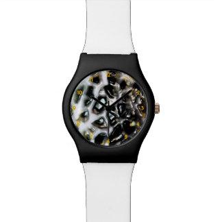 El mosaico tiene gusto de la colmena del cantalupo reloj de mano