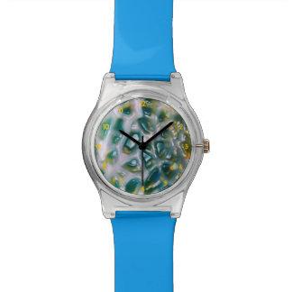 El mosaico tiene gusto de la turquesa de la colmen reloj de mano