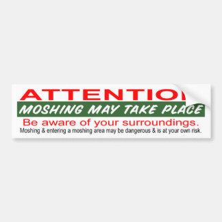 El Moshing puede ocurrir Etiqueta De Parachoque