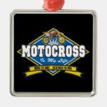 El motocrós es mi vida ornamentos de reyes