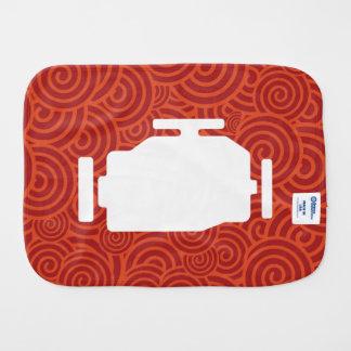 El motor viaja en automóvili símbolo paños de bebé
