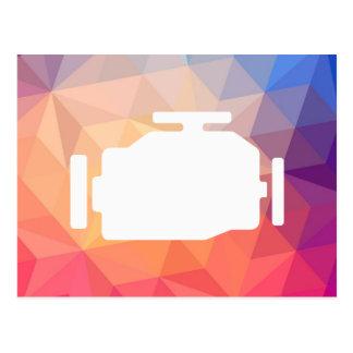 El motor viaja en automóvili símbolo postal