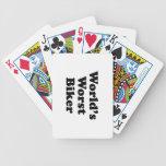 El motorista peor del mundo barajas de cartas