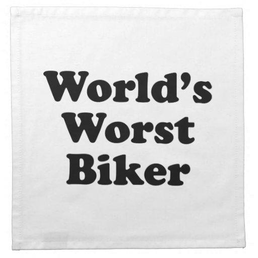 El motorista peor del mundo servilletas imprimidas