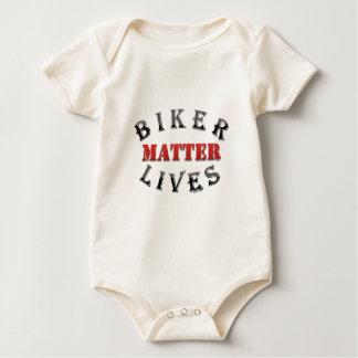 El motorista vive materia mamelucos de bebé