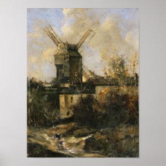 El Moulin de la Galette, Montmartre, 1861 Posters