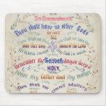 El mousepad de diez mandamientos tapete de raton