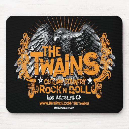 El mousepad de TWAINS Eagle Tapete De Ratones