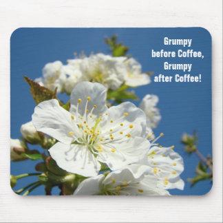 El mousepad del humor gruñón antes de café florece alfombrilla de raton