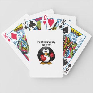 El mover de un tirón loco para usted pingüino del cartas de juego
