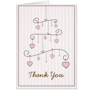 El móvil rosado de la niña del amor le agradece ca felicitacion