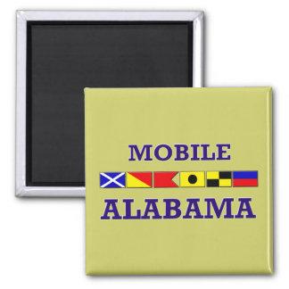 El móvil señala el imán por medio de una bandera