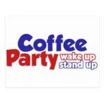 El movimiento del fiesta del café despierta se lev postal