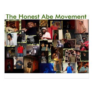 El movimiento honesto de Abe Tarjeta Postal