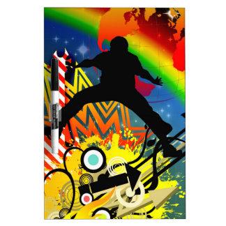 El movimiento humano de la gente del arco iris sal pizarra