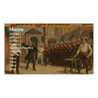 El movimiento pasado tarjeta de negocio