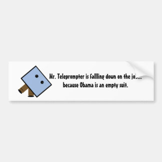 el mrteleprompter, Sr. Teleprompter fallling hace… Pegatina Para Auto