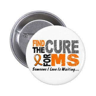 El ms de la esclerosis múltiple encuentra la curac pin redondo de 2 pulgadas