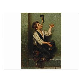 El muchacho 1882 del brillo del zapato del ~ del j postal
