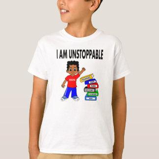 El muchacho afroamericano del dibujo animado playera
