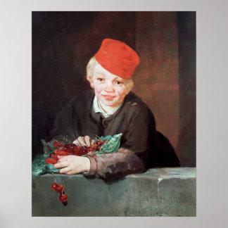 El muchacho con las cerezas, 1859 póster