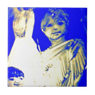 El muchacho de la tierra de Nimolos Azulejo Cuadrado Pequeño