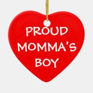 El muchacho de Momma orgulloso Ornaments Para Arbol De Navidad