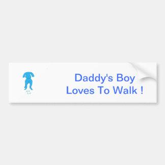 El muchacho de perro de los oídos del papá azul ab pegatina para auto