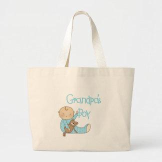 El muchacho del abuelo bolsa tela grande