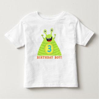 El muchacho del cumpleaños 3 años de monstruos polera