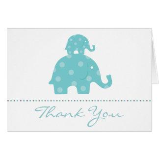 El muchacho del elefante de la mamá y del bebé dob tarjetas