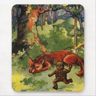El muchacho del pan de jengibre y el Fox Alfombrilla De Ratón