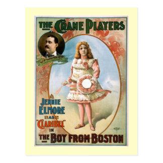 El muchacho del teatro del vintage de Boston Postales