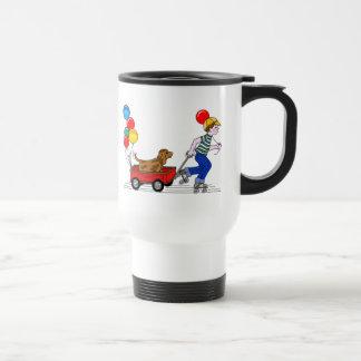El muchacho, el perro, el carro y los globos copia taza