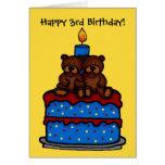 el muchacho gemelo refiere el cumpleaños 3 de la t tarjetas