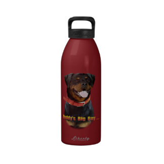El muchacho grande del papá de Rottweiler Botella De Agua
