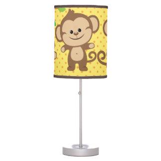 El muchacho Monkeys la lámpara de mesa
