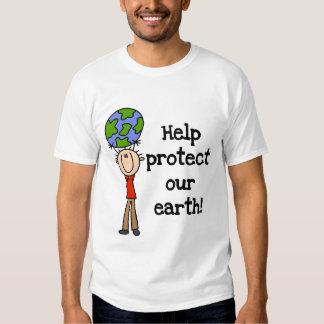 El muchacho protege nuestras camisetas y regalos playera