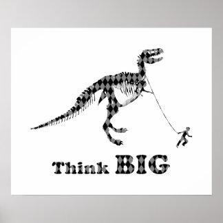El muchacho que camina un ~ de Rex del Tyrannosaur Poster