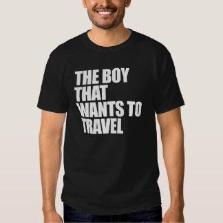 El muchacho que quiere viajar polera