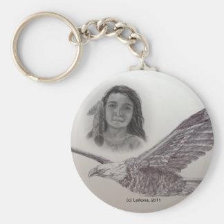 El muchacho que voló con Eagles: Llavero monocromá