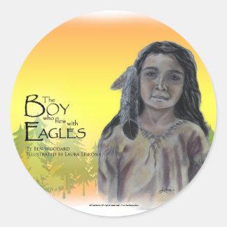 El muchacho que voló con el pegatina de Eagles