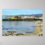 El muelle del pescador en el poster de Monterey Ca